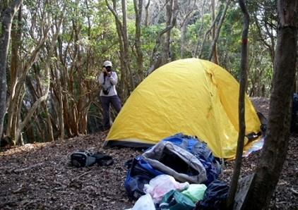 6.大滝山山頂にテントを張る。。。