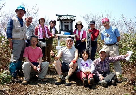 2009年4月19日 小津権現山(1158m)(奥美濃・久瀬村)
