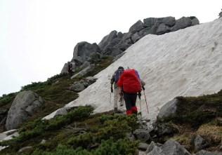 また,雪渓が出てきた