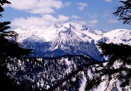 白谷山頂から乗鞍岳