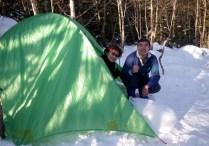 02快適なテント場。