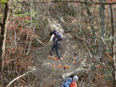 岩稜歩きは楽し!