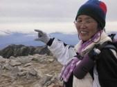 指先には富士山!