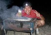 サンマが焼けるのがたのしみです。