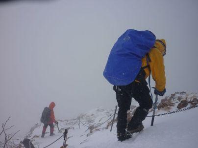 25下山は登り以上に神経を使います!