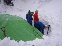 22 ようやくテント設営