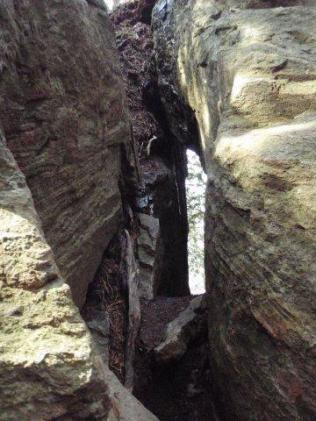 19覗き岩、狭い。