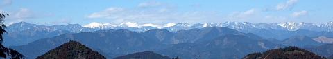 11.花沢山山頂付近から南アルプス方面への展望