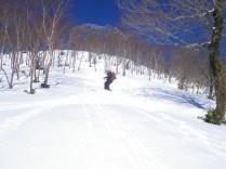13.雪原を滑る