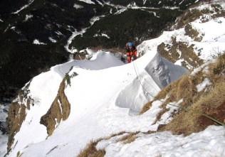 07.雪尊稜、リッジにて