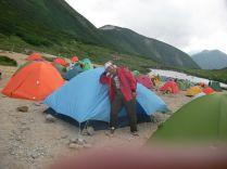 双六のテント場です。