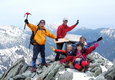 2009年5月1日 春合宿  槍ヶ岳(3180m)(槍沢コース)(北アルプス)