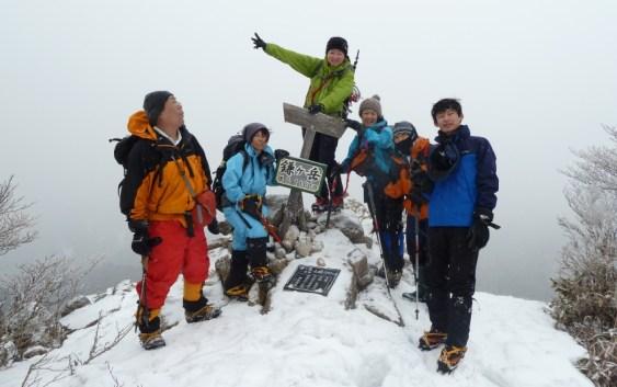 2012年2月26日 自主山行 鈴鹿 鎌ヶ岳(馬の背尾根〜長石谷)