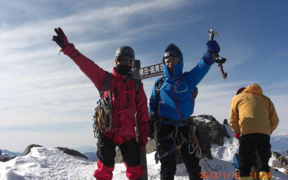 2013年1月12日~2013年1月14日 冬合宿(バリエーション) 赤岳 主稜