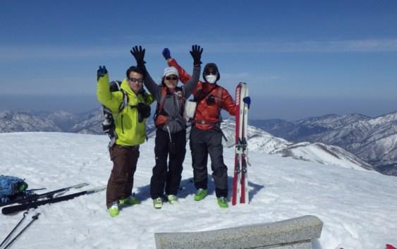 2013年 3月16〜17日 大品山と金剛堂山 山スキー 自主山行
