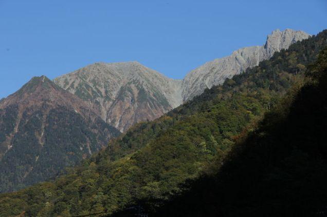 44 新穂高温泉から蒲田富士