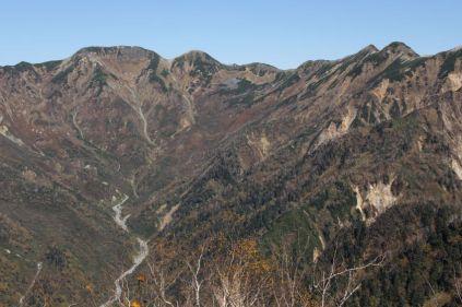 27 樅沢岳から双六岳