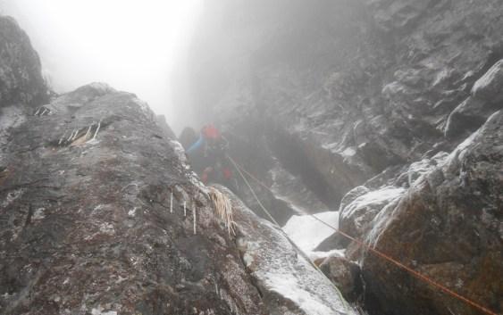 錫杖岳前衛壁3ルンゼ