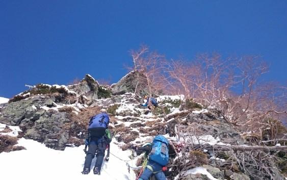 春合宿 明神岳東稜(2,889m)