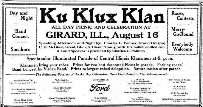 Ku Klux Klan advertisement