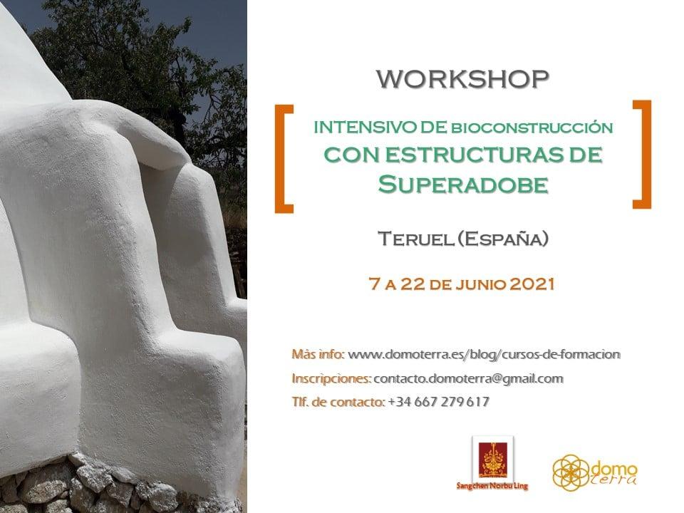 Curso intensivo de Bioconstrucción con Superadobe, 7 al 22 de junio @ Centro de retiros Sangchen Norbu Ling