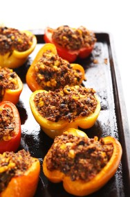 quinoa-spinach-stuffed-peppers