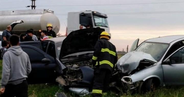 Choque frontal de dos vehículos sobre la Ruta 34