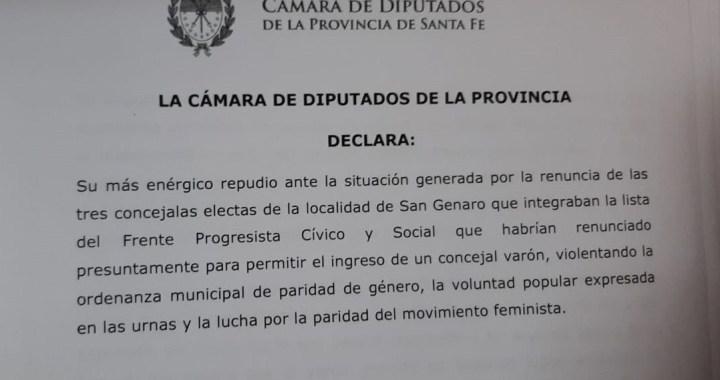 Paridad en San Genaro: Diputados y un centenar de dirigentes repudiaron el episodio