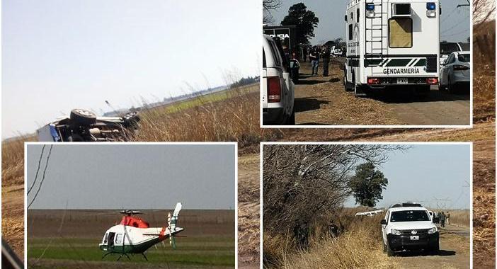 Cañada de Gómez: dos muertos tras una persecución por tierra y aire