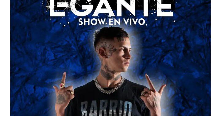 L-Gante llega a Totoras para dar un show en Unión Fútbol Club