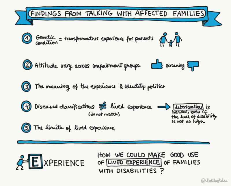"[Illustration 4] ""Findings from talking with affected families""  Credit: Laura Olivares Boldu"
