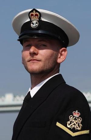 Sam Quinn, Royal Navy. Image credit: Joe Cater, Royal Navy