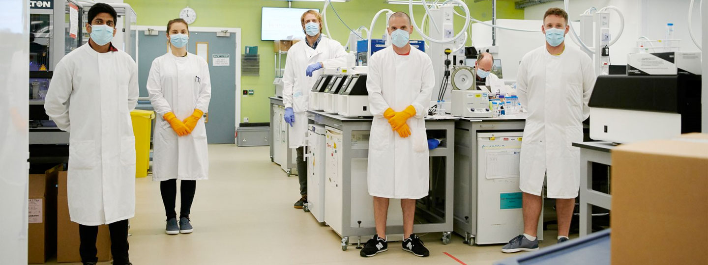 Technical Coordinator Tristram Bellerby and team in the Sequencing lab