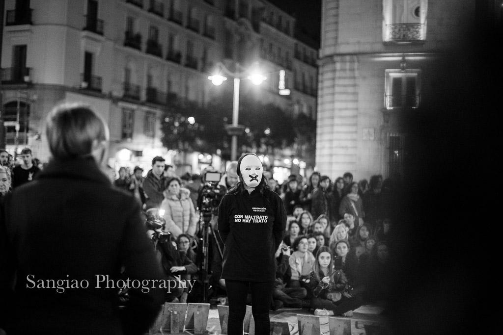 Manifestación en la Puerta del Sol contra la violencia machista
