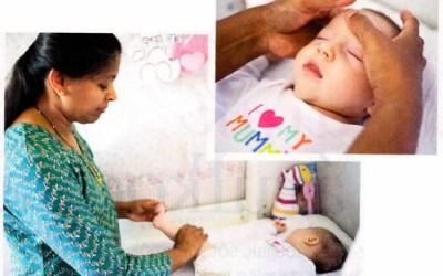 Nők lapjából: Fejlődést serkentő indiai babamasszázs
