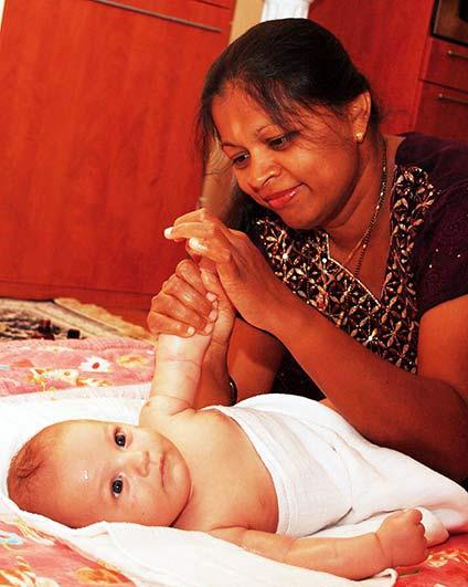 indiai babamasszőr
