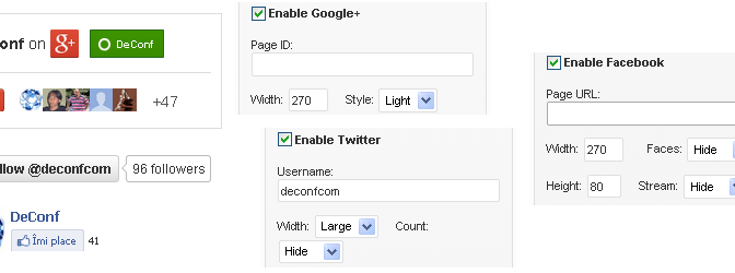 Highly Customizable Follow Us Social Media Widget For Twitter, Google+ & Facebook