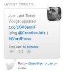 Display What You Have Recently Said On Twitter With Juiz Last Tweet WordPress Widget