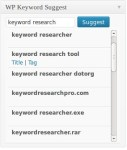 SEO Keyword Suggestion Tool For WordPress Post Admin Pages