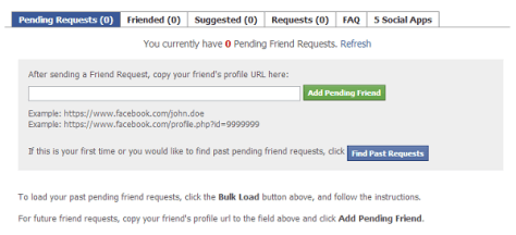 Track Pending Facebook Friend Requests