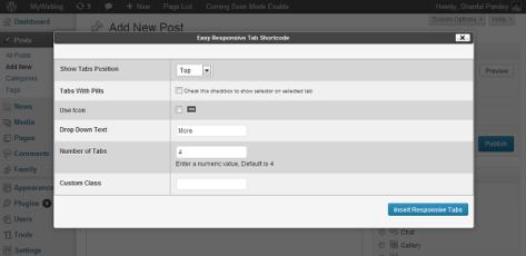 Responsive tab shortcode generator 2