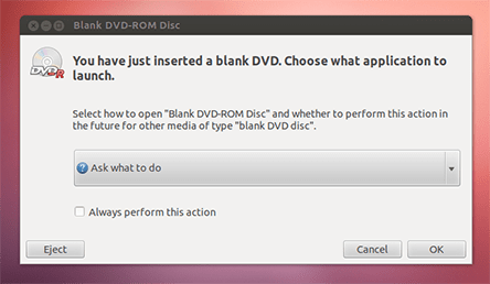 burn a DVD on Ubuntu 1