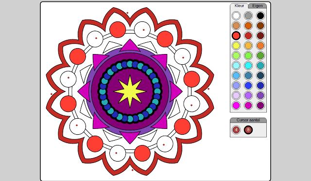Easily Create, Print, Color & Design Mandalas On Cloud