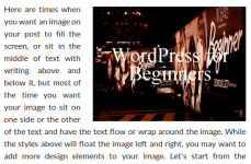 How To Wrap Text Around Images In WordPress?