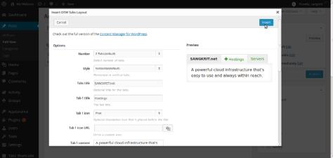 New WordPress Tabs Shortcode & Widget Generator Plugin By OTW Themes 1