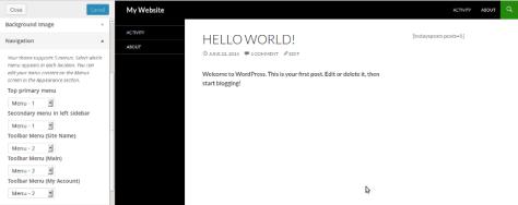 How To Add Menu Locations On WordPress Admin Toolbar? 1