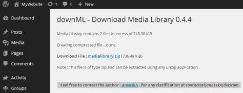 Dowload WordPress Media Library