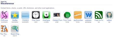Installatron Applications Browser