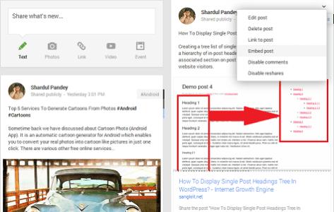 Embed Google Plus 1