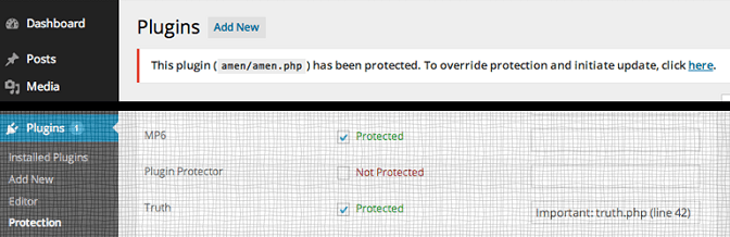 Protect WordPress Plugins From Inadvertent Updates And Deletion